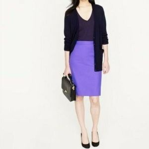 J Crew classic No.2 Pencil skirt in double surge
